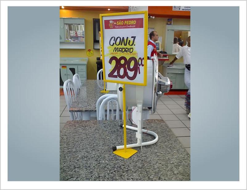 Placas de preço para supermercado