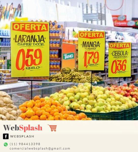 Placas de preços promocionais