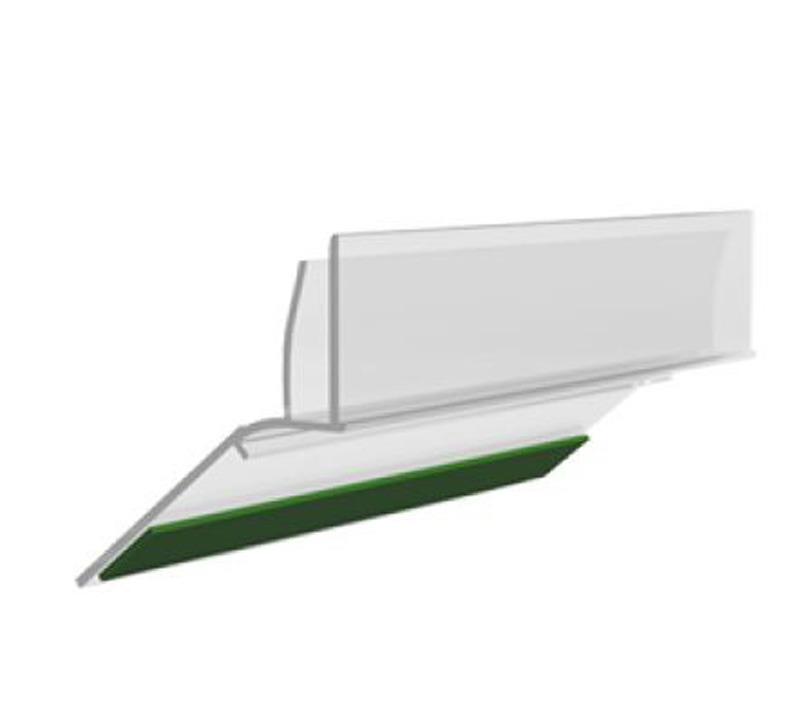 Porta etiqueta para prateleira de vidro