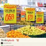 Porta cartaz supermercado