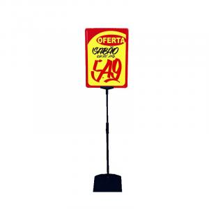 Porta cartaz com pedestal